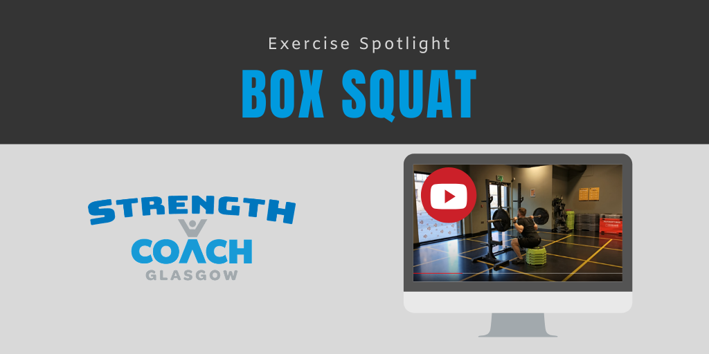 Box Squat exercise demo by glasgow personal trainer strength coach glasgow