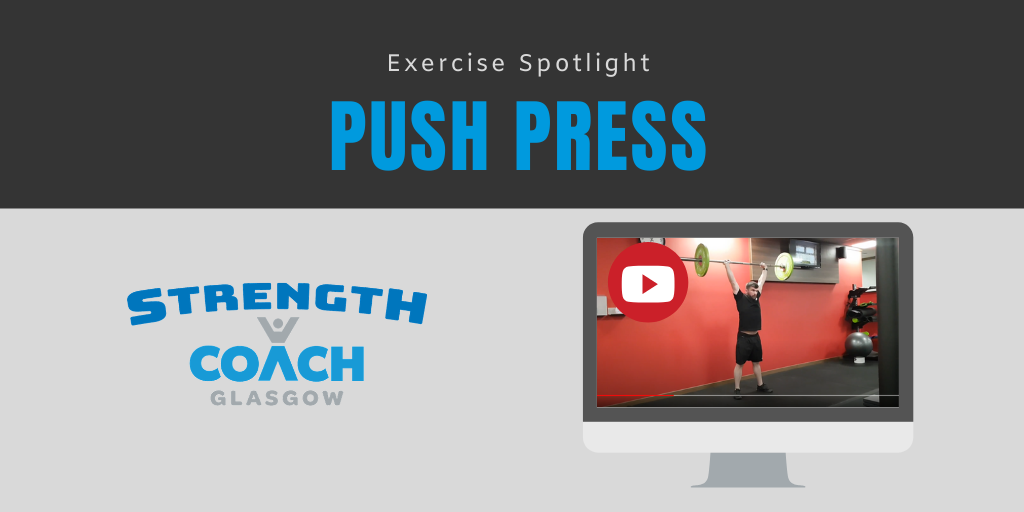 Push press barbell exercise technique by strength coach glasgow personal trainer