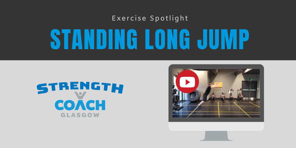 jumping power exercise demonstration by strength coach glasgow personal trainer