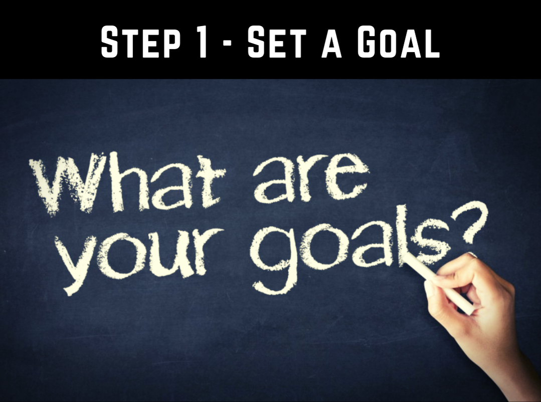 Goal Setting - Step 1 - Set a goal for your health and fitness