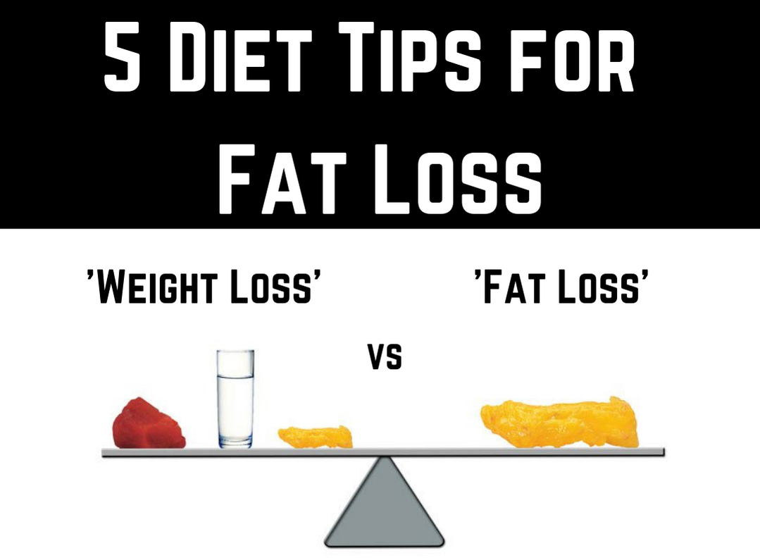 5 Diet Tips For Fat Loss Article Blog Post by Strength Coach Glasgow. Difference between weight loss and fat loss