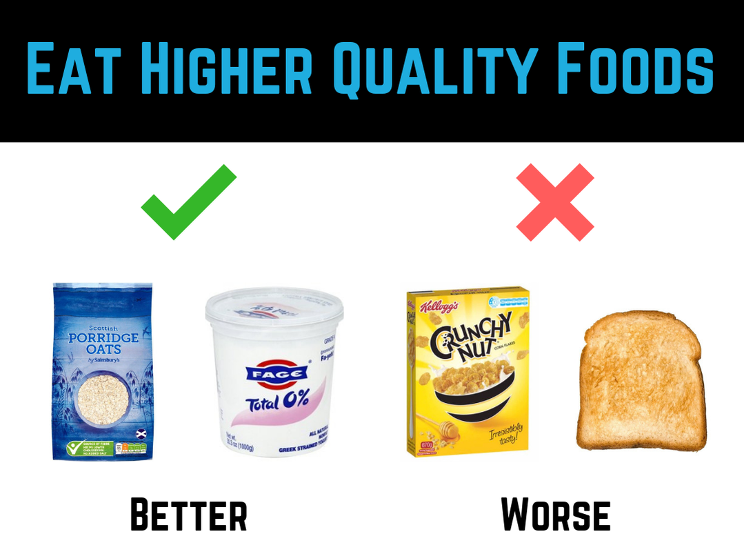 Diet Tip #5 - Eat Higher Quality Foods by Strength Coach Glasgow Weight Loss Tips